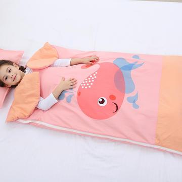2019新水洗棉大版卡通防踢被婴童儿童睡袋100*180cm