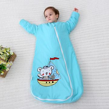 2019新绣花可脱袖无荧光剂婴童儿童睡袋