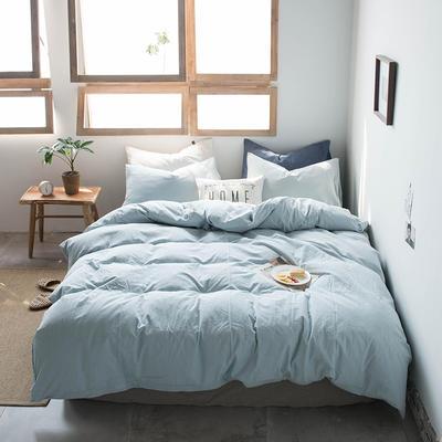 2019新款水洗棉四件套床单款床笠款 1.2m床床笠款 雅兰