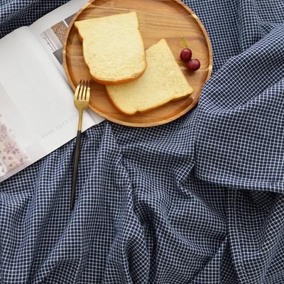 2020三层全棉纱布毯子 150*200cm 深蓝色