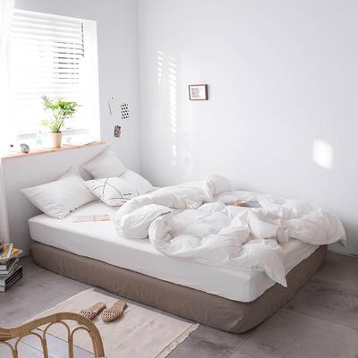 2020新款水洗棉四件套床单床笠款 1.2m床床单款 白色
