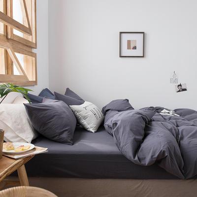 2020新款水洗棉四件套床单床笠款 1.2m床床单款 纯灰