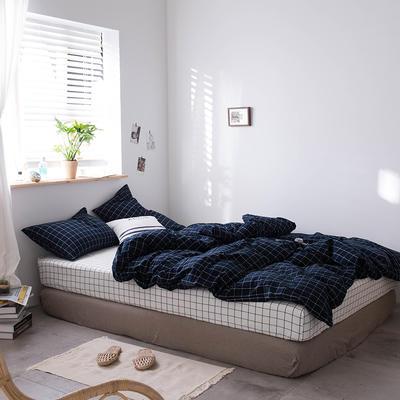 2020新款水洗棉四件套床单床笠款 1.2m床床单款 冬