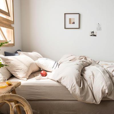 2020新款水洗棉四件套床单床笠款 1.2m床床单款 米驼