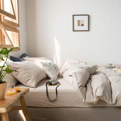 2020新款水洗棉四件套床单床笠款 1.2m床床单款 米细条