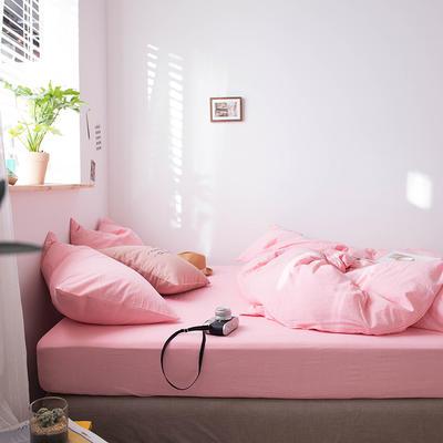 2020新款水洗棉四件套床单床笠款 1.2m床床单款 嫩粉