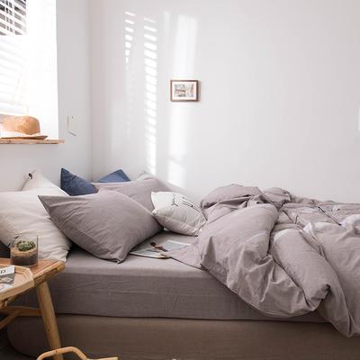2020新款水洗棉四件套床单床笠款 1.2m床床单款 浅灰