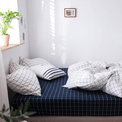 2020新款水洗棉四件套床单床笠款 1.2m床床单款 秋