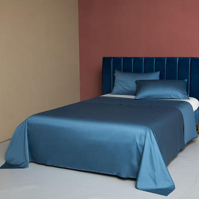2020新款60支床单 220cmx245cm 月光蓝