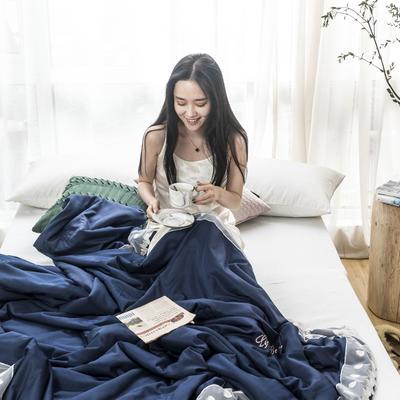 2019新款晚风系列莫代尔天丝烫钻夏被 150x200cm 东方蓝