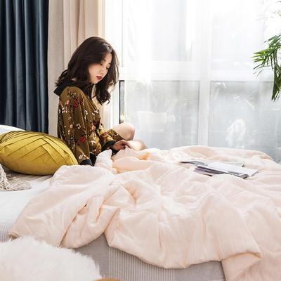 2019新款全棉针织夏被 200X230cm 莫妮卡-浅玉