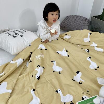 2019新款艾草驱蚊全棉棉花夏被 110x150cm 加油鸭