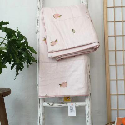 2019新款艾草驱蚊全棉棉花夏被 110x150cm 蜜桃粉