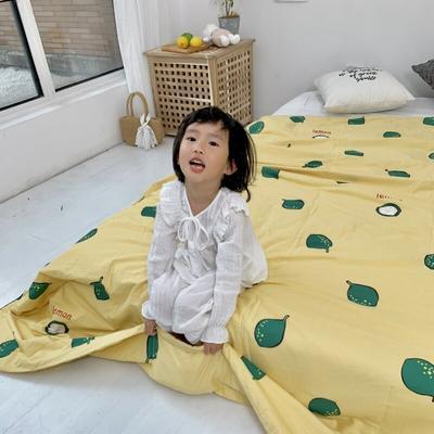 2019新款艾草驱蚊全棉棉花夏被 110x150cm 柠檬黄