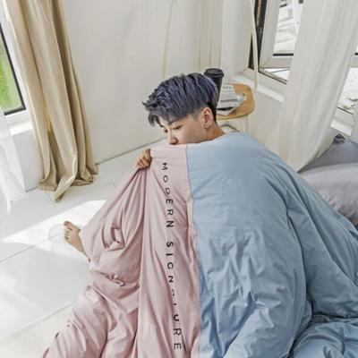 2019新款莫兰迪系列冬被 200X230cm 6斤 薄粉色
