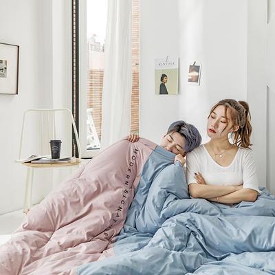 2019新款莫兰迪系列冬被 200X230cm 10斤 薄粉色
