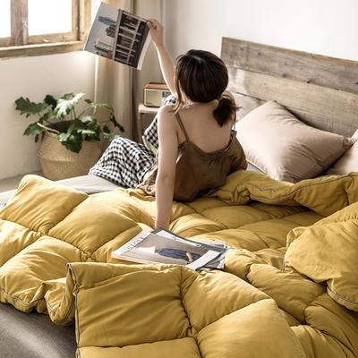 2019新款POLO MARK 马克保罗发热鹅绒冬被 200X230cm 6.5斤 枫叶黄