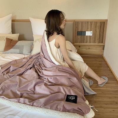 2019新款UGG羊羔絨毯子 150*200 裸粉