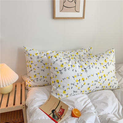 2020新款40支斜纹全棉枕套 48cmX74cm一对 蜜果