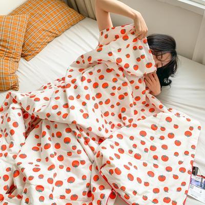 2020新款40S全棉可水洗抗菌蚕丝夏被 150x200cm 小番茄