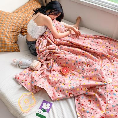 2020新款40S全棉可水洗抗菌蚕丝夏被 150x200cm 小女孩-粉