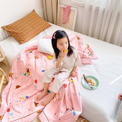 2020新款儿童全棉双层纱布棉花驱蚊夏被 110x150cm 米菲家族