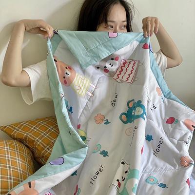 2020年新款全棉棉花驱蚊夏被 150*200 cm单夏被 涂鸦小熊