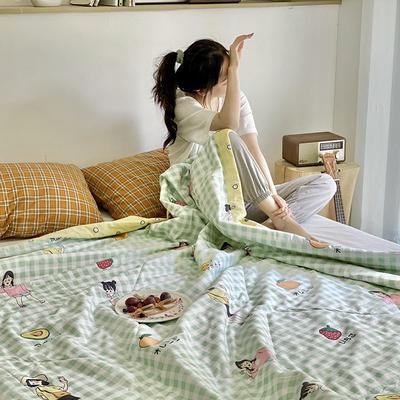 2020年新款全棉棉花驱蚊夏被 150*200 cm单夏被 夏日女孩
