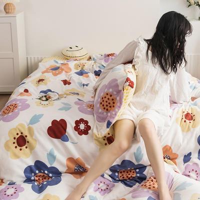 2020新款韩系高端220g牛奶绒四件套--棚拍 1.5m床单款四件套 爱洛花园