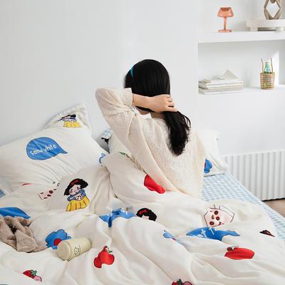 2020新款韩系高端220g牛奶绒四件套--棚拍 1.5m床单款四件套 公主白