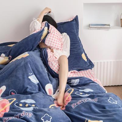 2020新款韩系高端220g牛奶绒四件套--棚拍 1.5m床单款四件套 霉妮