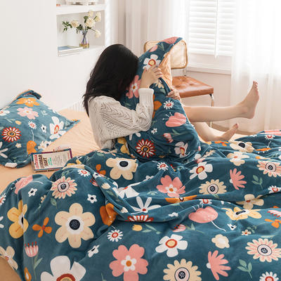 2020新款韩系高端220g牛奶绒四件套--棚拍 2.0m床单款四件套 向阳花开