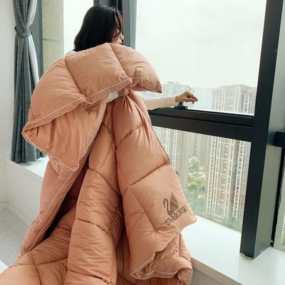 2020新款洛世奇鹅绒棉冬被被子被芯 200X230cm6斤 西柚橙
