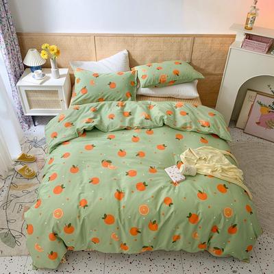 2021年全棉四件套 1.5m(5英尺)床 甜橙