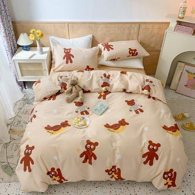 2021年全棉四件套 1.5m(5英尺)床 晚安熊