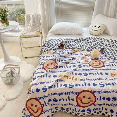 2021新款全棉棉花驱蚊被 150x200cm夏被 微笑