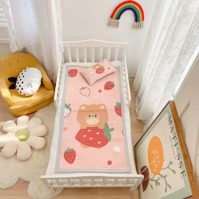 2021新款乳胶席婴儿规格图凉席三件套 150*200凉席三件套 草莓啵啵