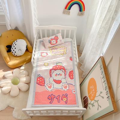 2021新款乳胶席婴儿规格图凉席三件套 150*200凉席三件套 草莓熊