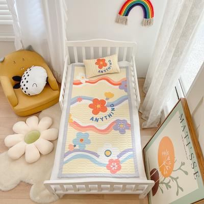 2021新款乳胶席婴儿规格图凉席三件套 150*200凉席三件套 花浪
