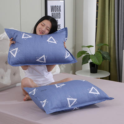 2019新款纯棉枕套 绅士48*120