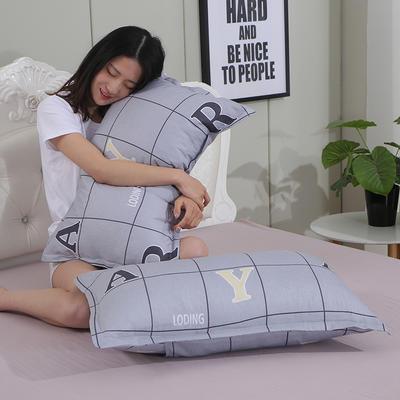 2019新款纯棉枕套 时尚字母48*120