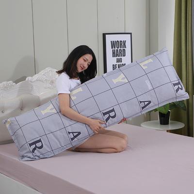 2019新款纯棉枕套 时尚字母48*150