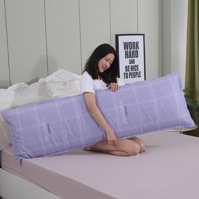 2019新款纯棉枕套 休闲时光 紫48*180