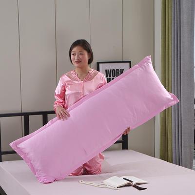 2019新款水洗天丝枕套 粉色48*120