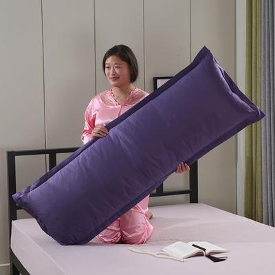 2019新款水洗天丝枕套 深紫48*150