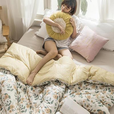 2019新款全棉印花冬被被芯 150x200cm  4.3斤 秋叶