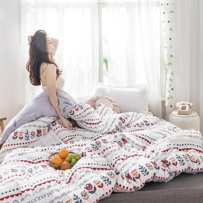 2020新款全棉印花冬被被芯 150x200cm  4.3斤 西西里