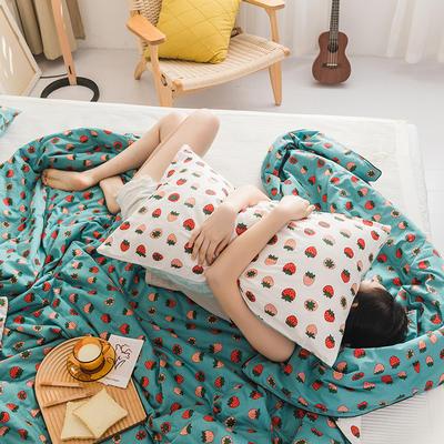 2020新款全棉印花夏被 单品夏被150x200cm 草莓恋人