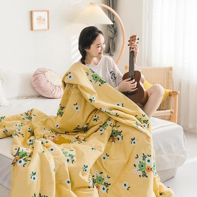 2020新款全棉印花夏被 150x200cm 束花语黄
