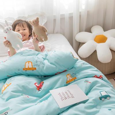 2020新款60支长绒棉儿童印花大豆被冬被被子被芯 150x200cm  4.6斤 汽车之家